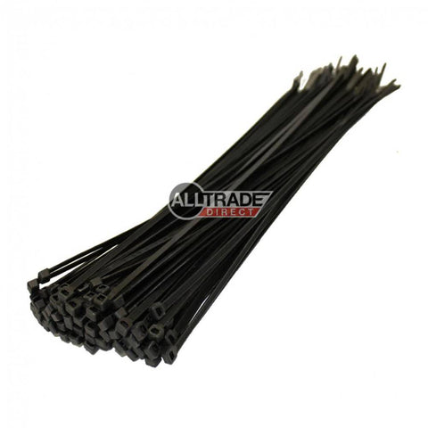 300mm black cable ties