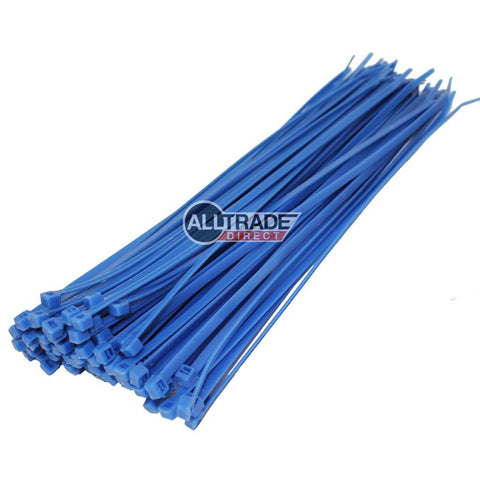 300mm blue cable ties