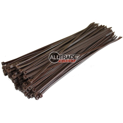 300mm brown cable ties