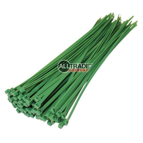 300mm green cable ties