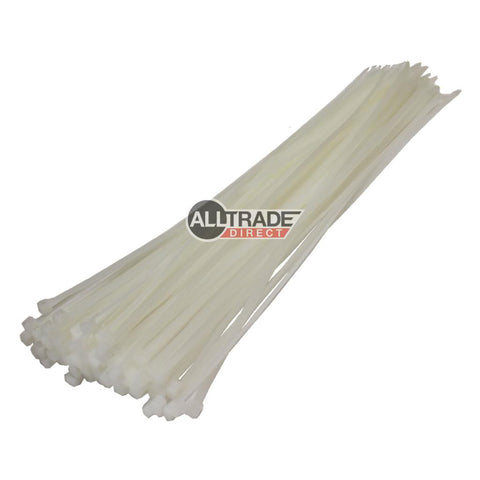 300mm white cable ties