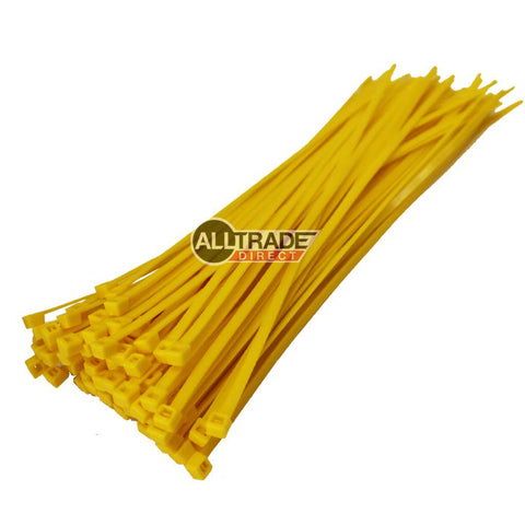 300mm yellow cable ties