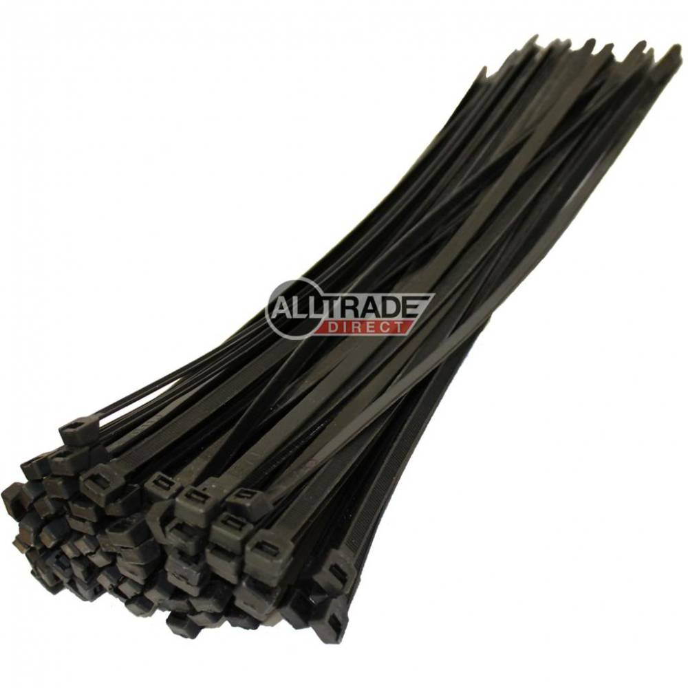 370mm x 7.6mm black cable ties
