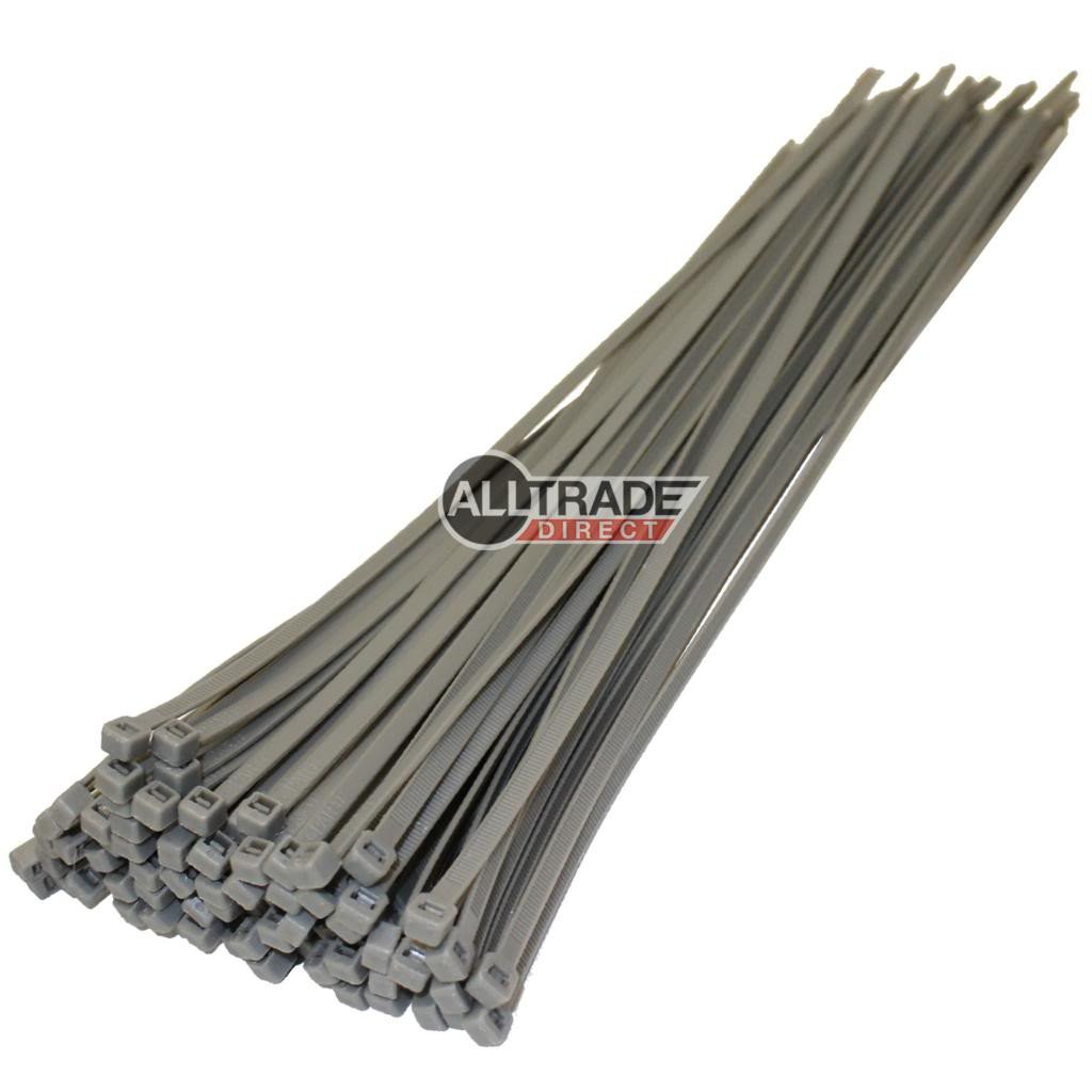 370mm silver cable ties
