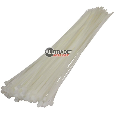 370mm white cable ties