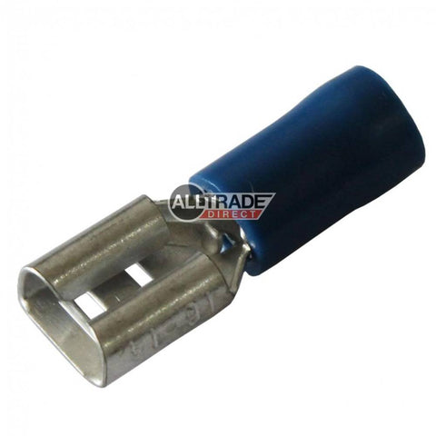 blue female spade crimp terminal