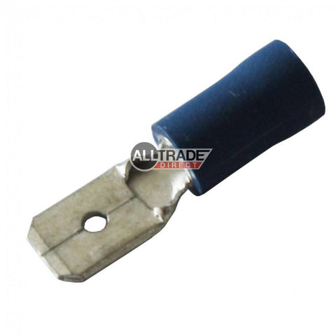 blue male spade crimp terminal