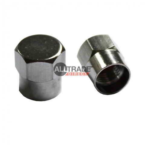 chrome tyre valve caps