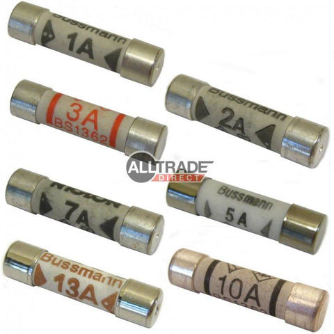 domestic mains plug fuses