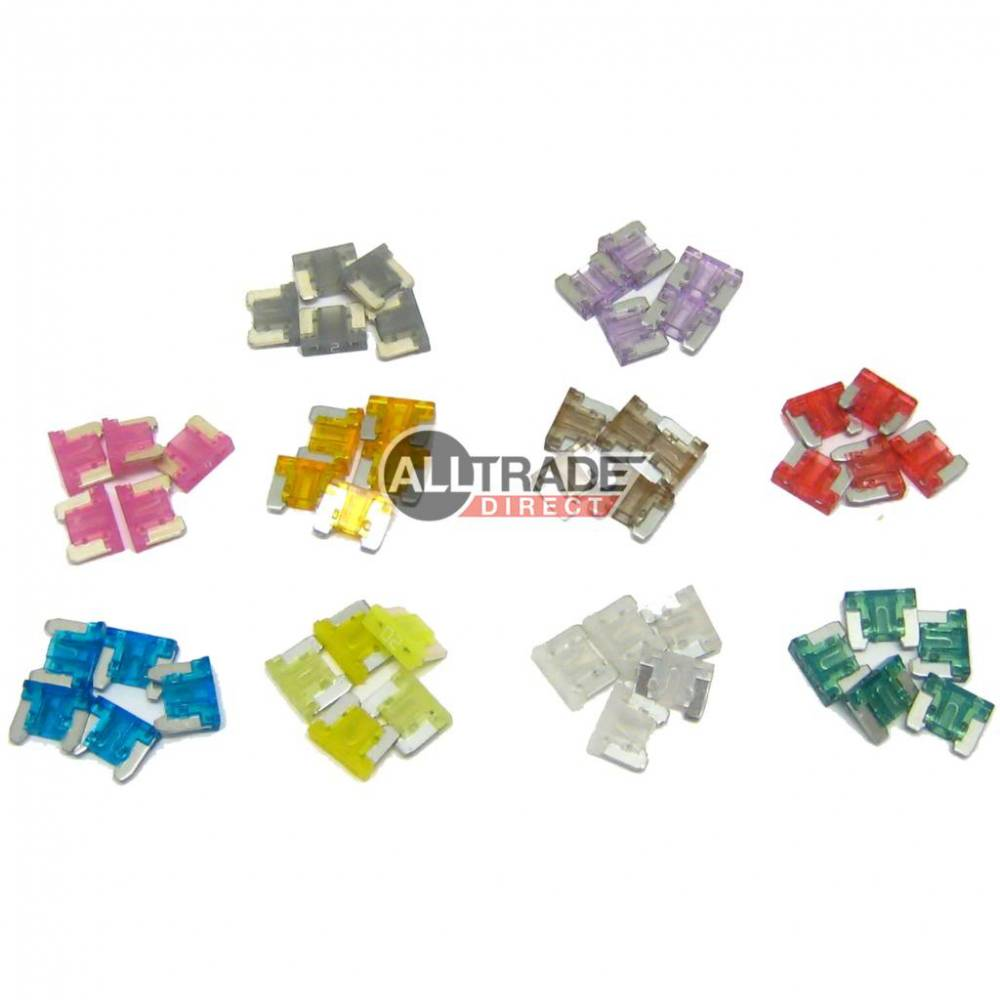 """MICRO BLADE FUSES /"""" LOW PROFILE/"""" MIXED PACK OF 18"""