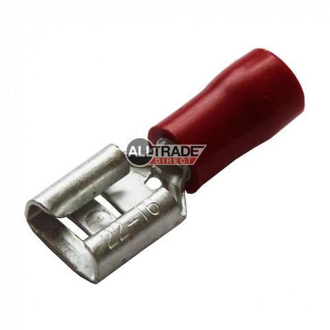 red female spade crimp terminal