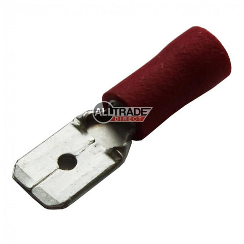 red male spade crimp terminal
