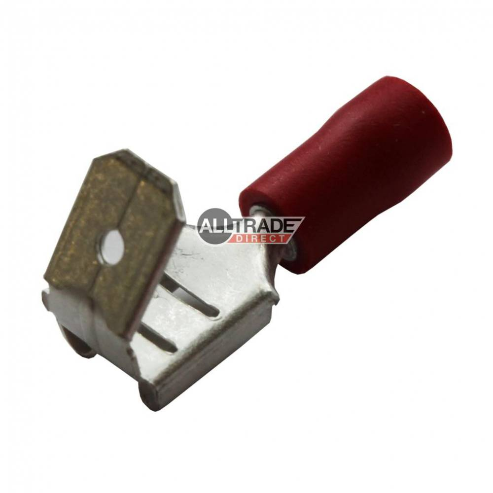red piggyback crimp terminal