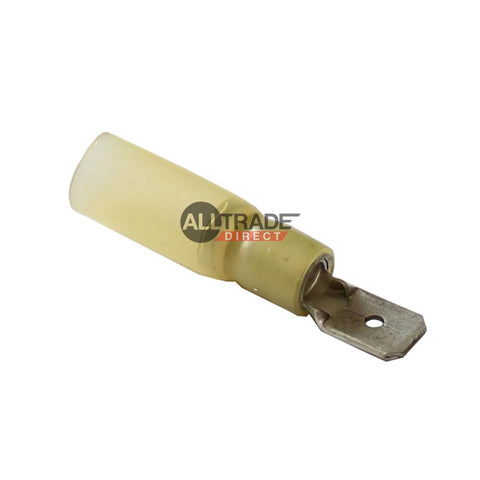 yellow heatshrink male spade