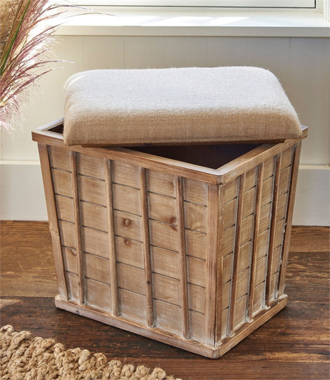... Farmhouse Wood Storage Stool - The Rustic Saltbox - 3 ... & Farmhouse Wood Storage Stool islam-shia.org