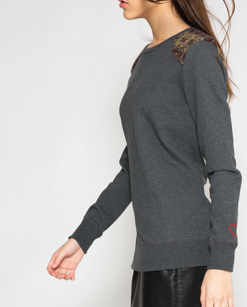 Aly Sweatshirt in Charcoal