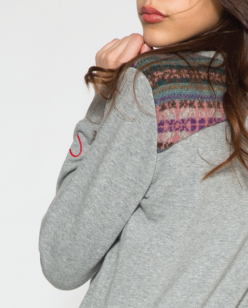 Aly Sweatshirt in Grey Mix