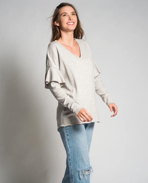 Alysa top in Eggshell
