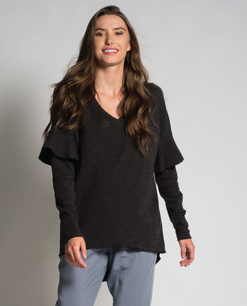 Alysa top in Black Mix