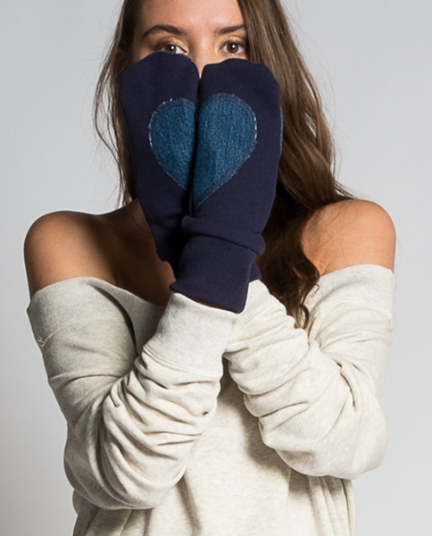 Angele Mitts in Navy & Denim