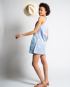 Ava Dress in Blue with Chambray Shirt