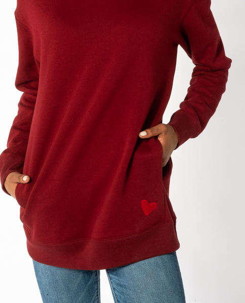 Bowee Sweatshirt in Vintage Red