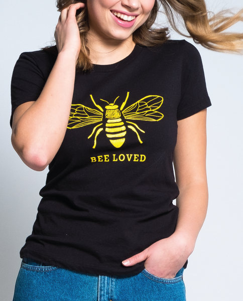 Bee Loved Tee in Black