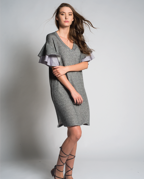 Charo Mini Dress in Charcoal