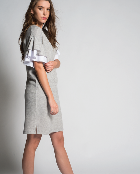 Charo Mini Dress in Grey