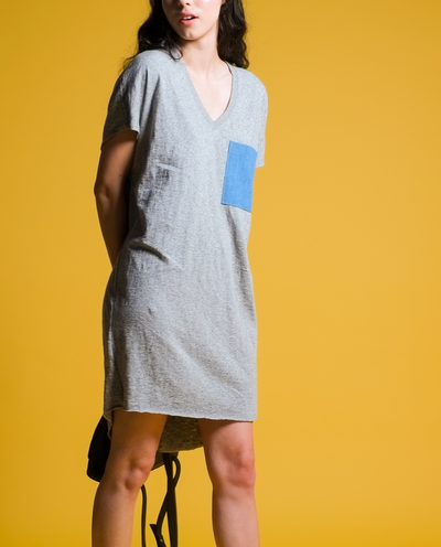 Harrie Dress in Anti Grey Mix