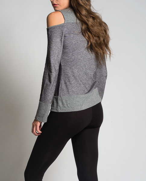 Jamia Top in Charcoal