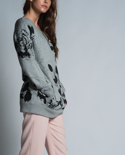 Jia Sweatshirt in Rose Print