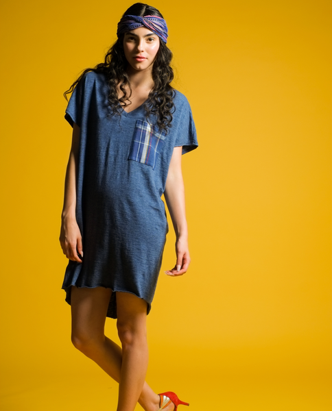 Jocelyn dress in Indigo Mix