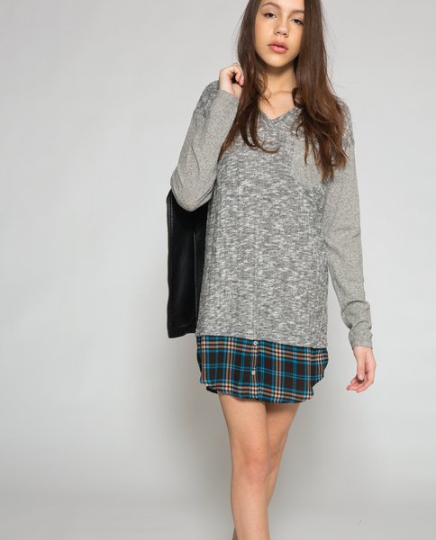 Laney Mini Dress in Grey