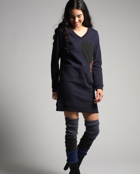 Gianna Tunic in Midnight Navy