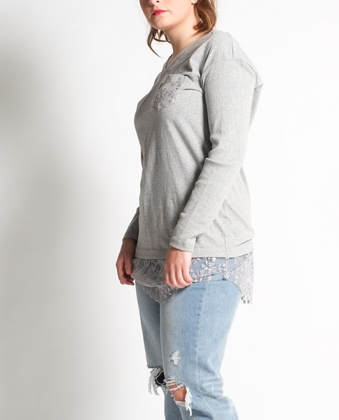 Mya Tunic in Grey