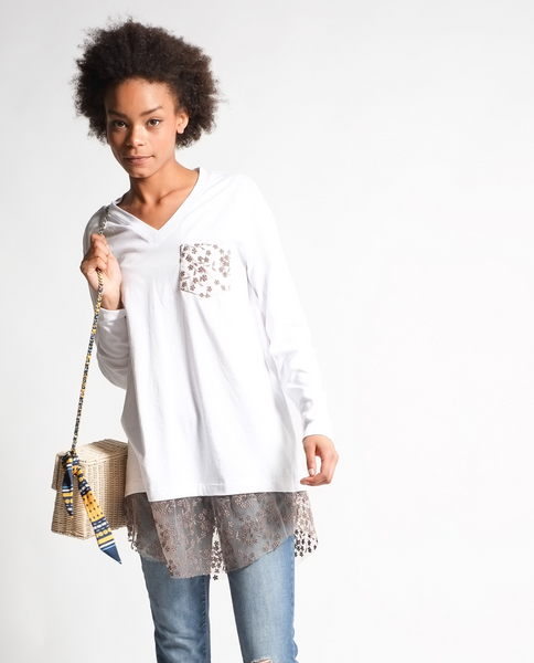 Mya Tunic in White