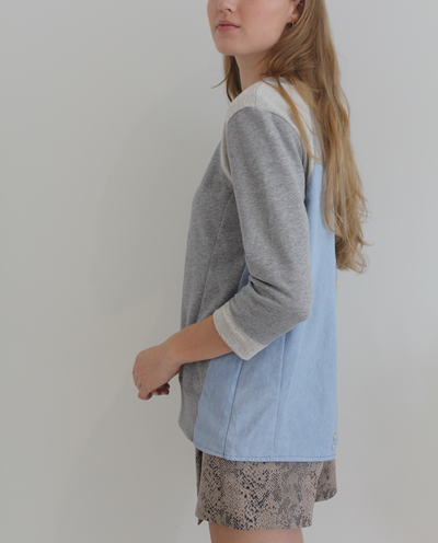 Neaveh Sweatshirt in Grey Mix