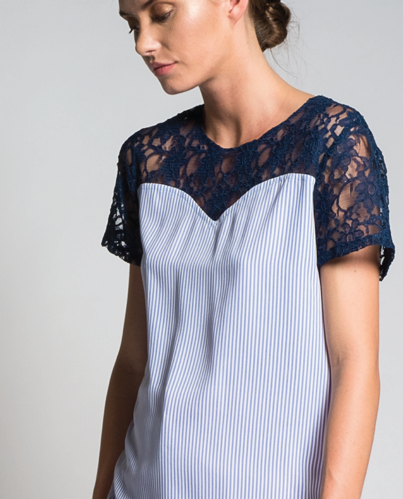 Pallay Top in Blue