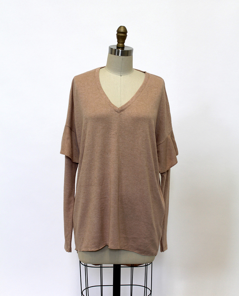 Samantha Top in Beige Pink