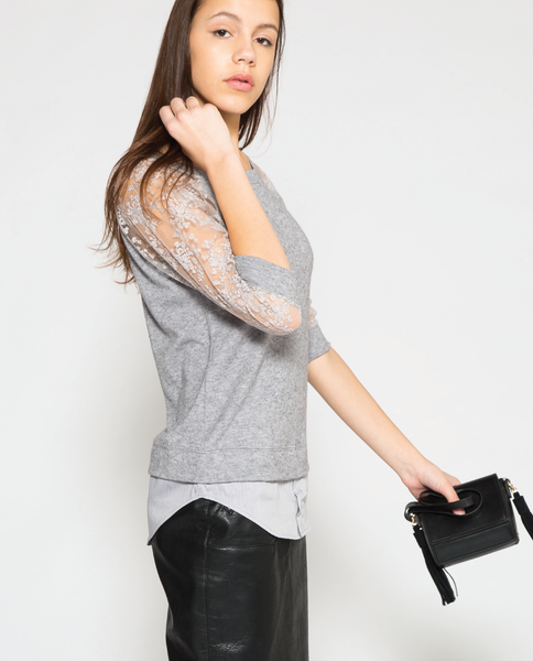 Sloane Top in Grey
