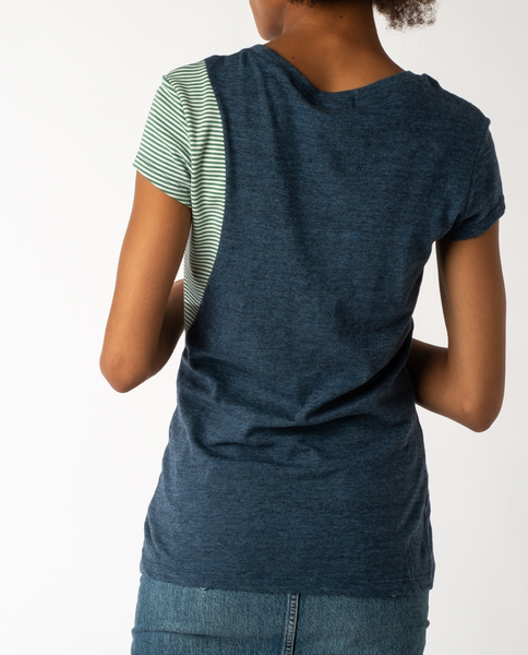 Sugar Cube Tee in Indigo Mix