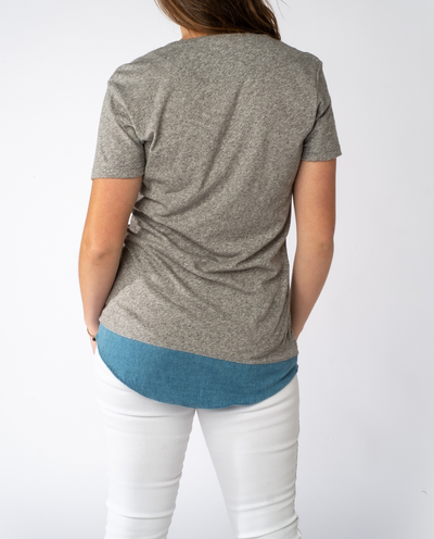 Suzillie Tee in Anti Grey Mix