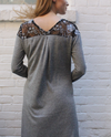 Valentina Mini Dress in Grey