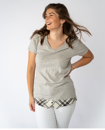Willow Tee in Eggshell mix