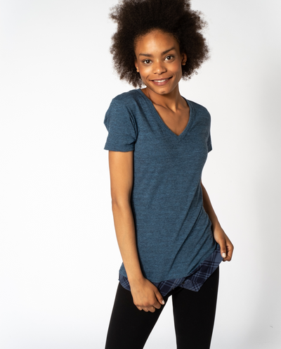 Willow Tee in Indigo Mix