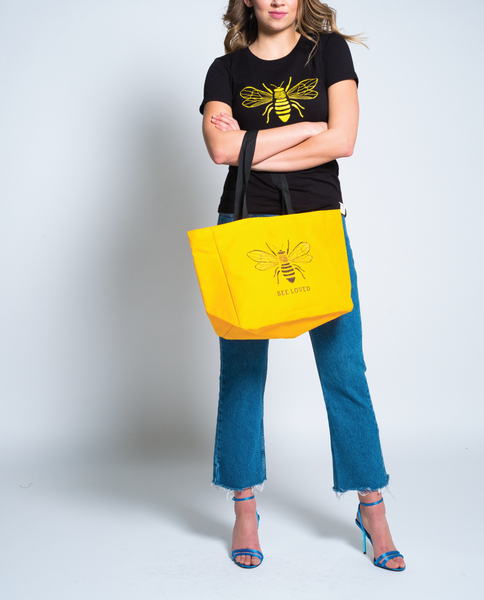 Bee Loved Tote in Yellow