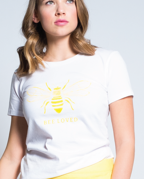 Bee Loved Tee in White
