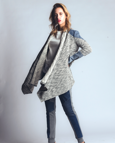 Brandy Cardigan in Black & White