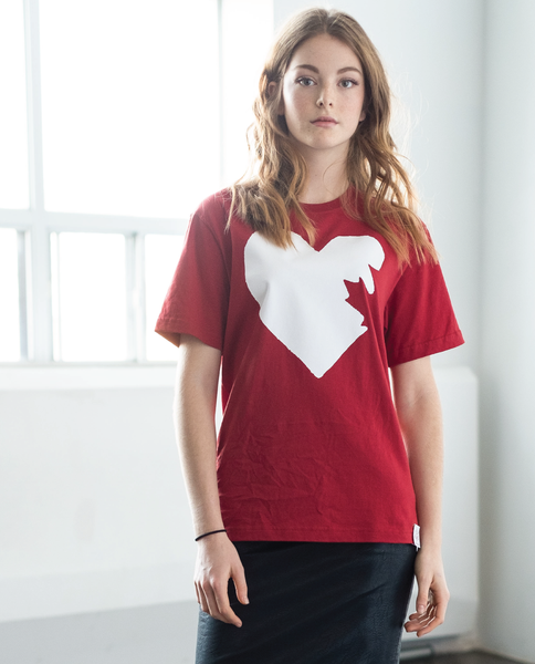 Hopewell Unisex Tee in Red